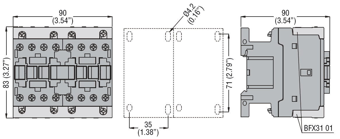 RIGID CONNECTING KITS FOR THREE-POLE REVERSING CONTACTOR