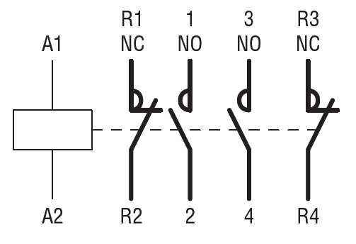 four pole contactor iec operating current ith ac1 32a ac wiring diagram