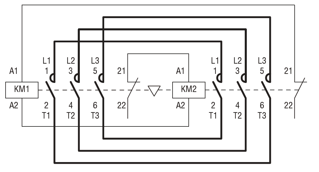 Reversing Contactor Assembly Ac Coil, Reversing Contactor Wiring Diagram