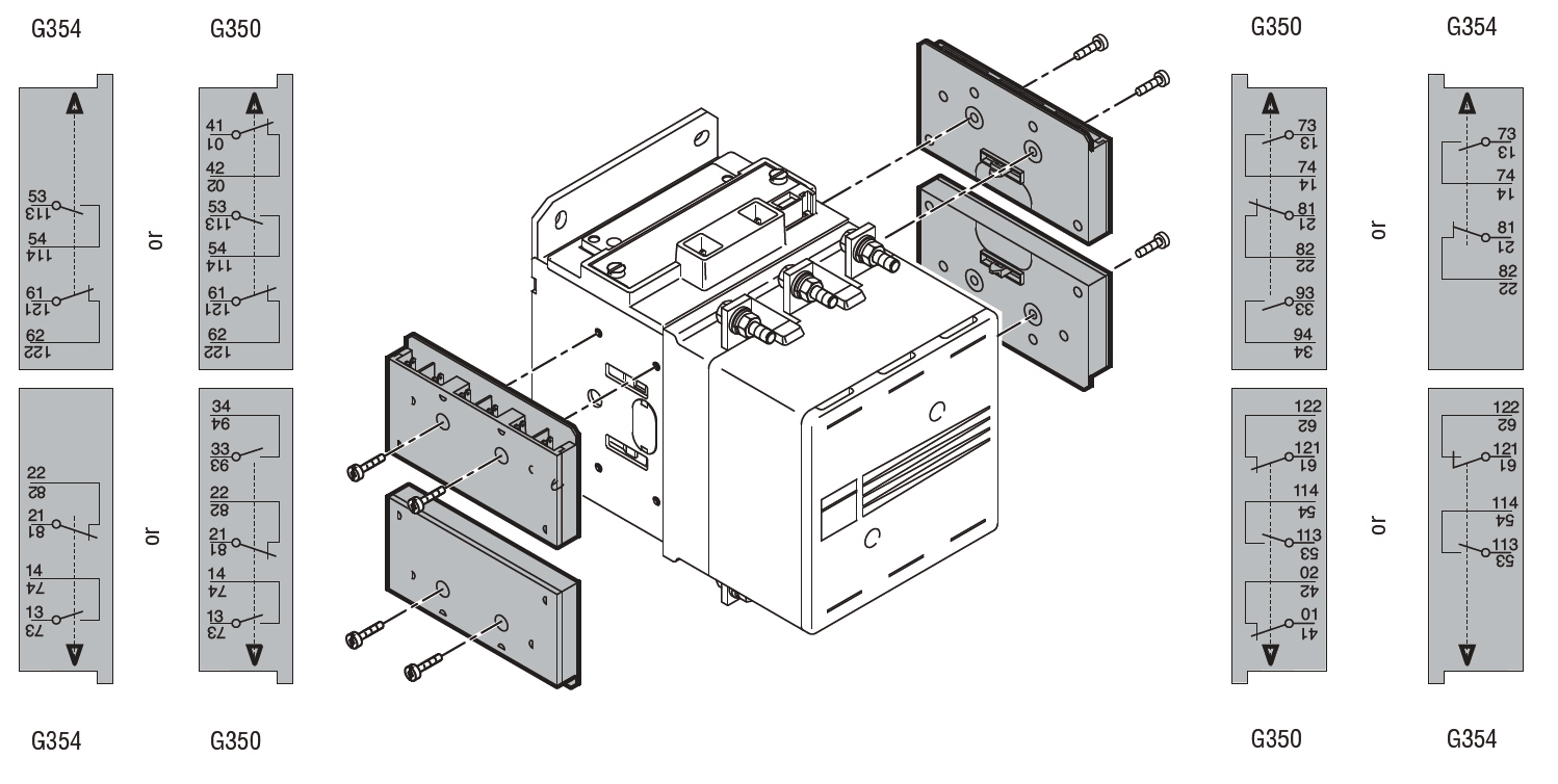 Faston terminals auxiliary contacts for side mounting for b series auxiliary contacts for side mounting for b series contactors 1no1nc spst ea lovato electric asfbconference2016 Choice Image