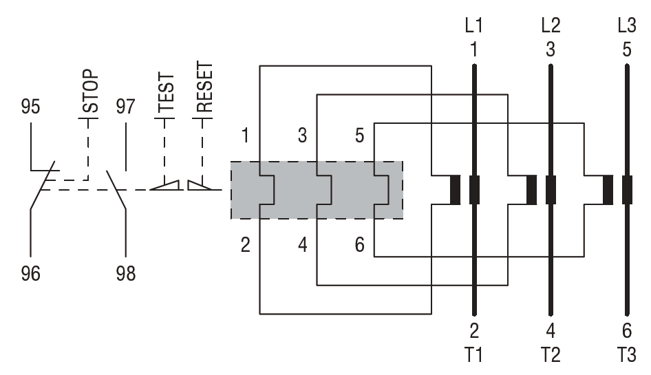 MOTOR PROTECTION RELAY, PHASE FAILURE / SINGLE PHASE