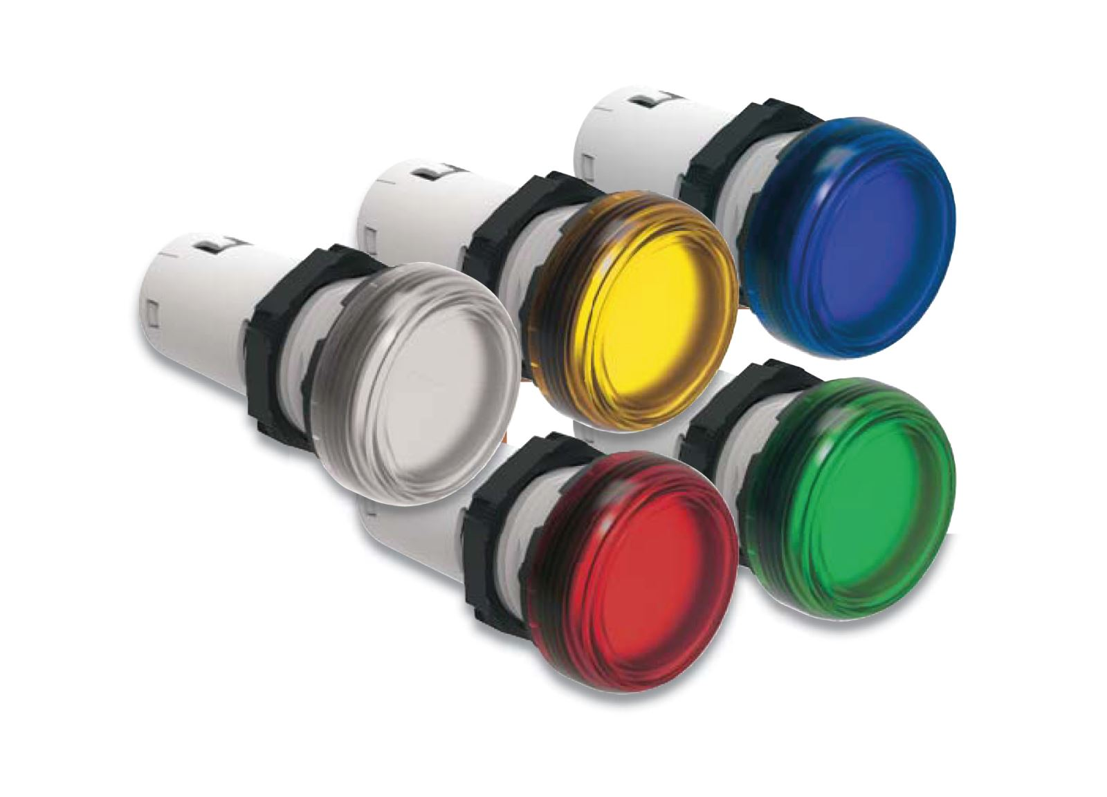 Monoblock pilot lights